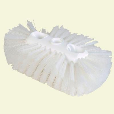 6 in. x 10.5 in. Polyester White Tank and Kettle Brush (Case of 12)