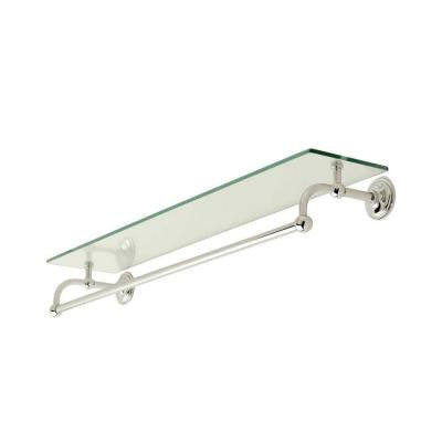 London Terrace 24 in. W Shelf with Bar in Polished Chrome
