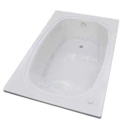 Peridot 6 ft. Air Bath Tub in White
