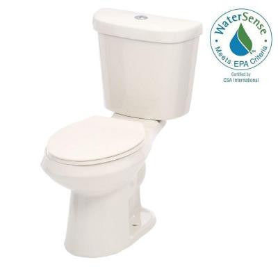2-piece 1.1 GPF/ 1.6 GPF High Efficiency Dual Flush Elongated Toilet in Biscuit