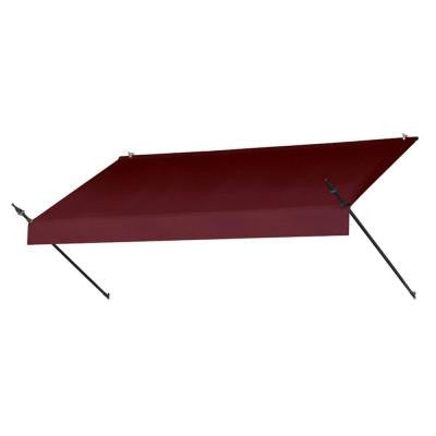 8 ft. Designer Manually Retractable Awning (Projection 36.5 in.) in Burgundy