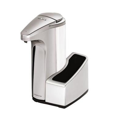 13 fl. oz. Sensor Soap Pump Dispenser with Caddy in Brushed Nickel