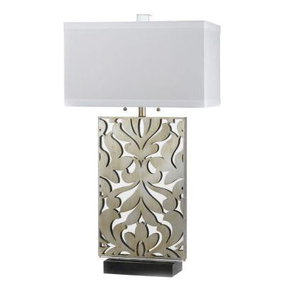 Candice Olson Collection, Daydream 33 in. Silver Glint Table Lamp with White Shade