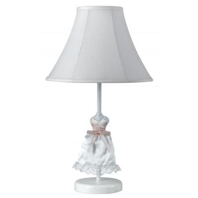Cooper 21 in. White Doll Dress Incandescent Novelty Lamp