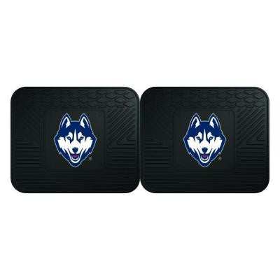 NCAA University of Connecticut Black Heavy Duty 2-Piece 14 in. x 17 in. Vinyl Utility Mat