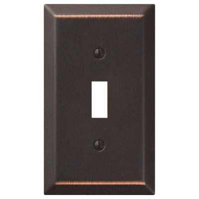 Century Steel 1 Toggle Wall Plate - Aged Bronze