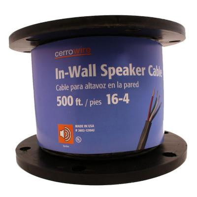 500 ft. 16/4 Stranded Speaker Wire - Grey