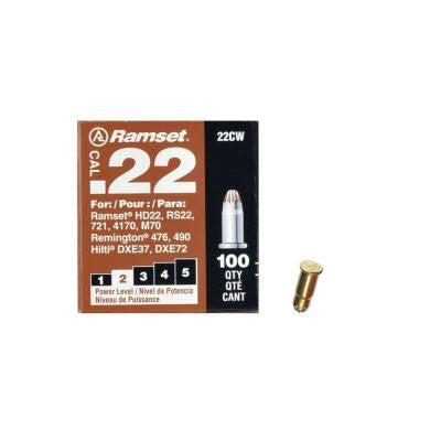 0.22 Caliber Brown Single Shot Powder Loads (100 per Pack)