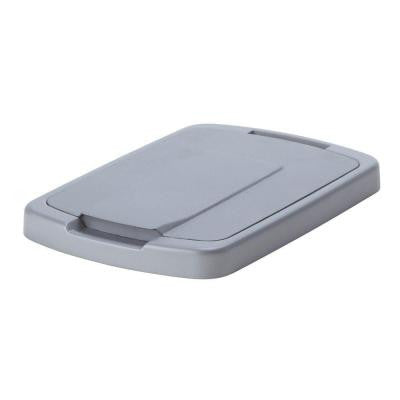 1 in. H x 15 in. W 10 in. D Plastic In- Cabinet Pull Out Trash Can Lid in Gray