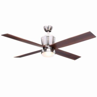 Trusseau 52 in. Brushed Nickel Ceiling Fan