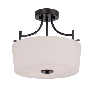 Cassina 2-Light Biscayne Bronze Semi-Flush Mount