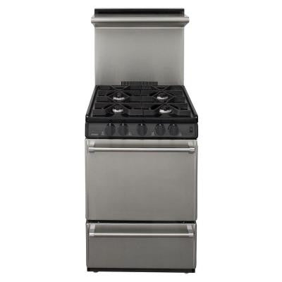 ProSeries 24 in. 2.97 cu. ft. Gas Range in Stainless Steel