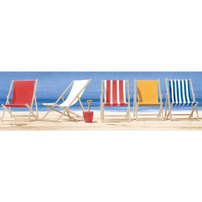 6 in. Beach Chairs Border