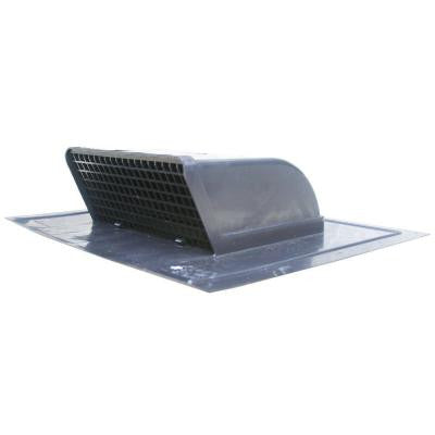 Heavy Duty Flush Mount Black Plastic Low Profile Roof Exhaust Cap with Removeable Screen & Backdraft Damper