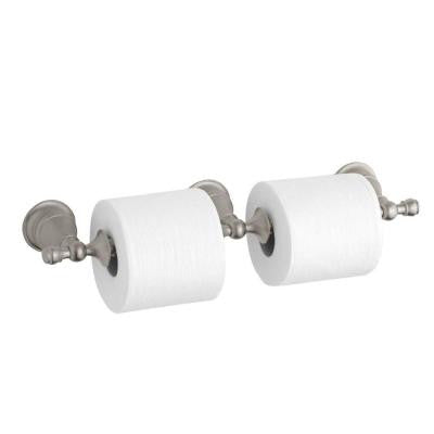 Revival Double Toilet Paper Holder in Vibrant Brushed Nickel