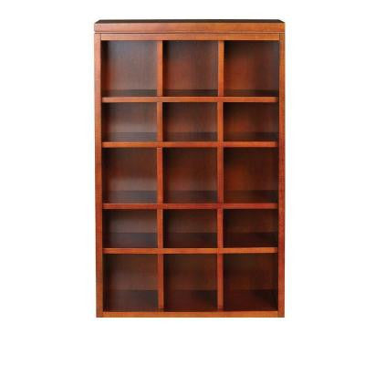 Craft Space 34 in. x 21 in. Sequoia 15-Cubbies Open Wall Mounted Storage