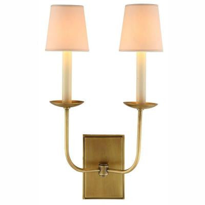 Penelope 2-Light Burnished Brass Wall Sconce