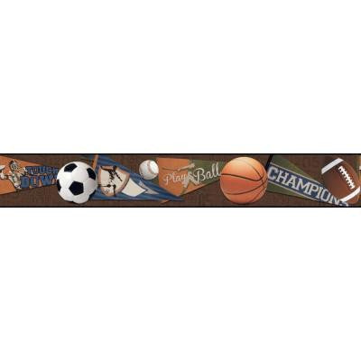 9 in. Cool Kids Sports Ball Border