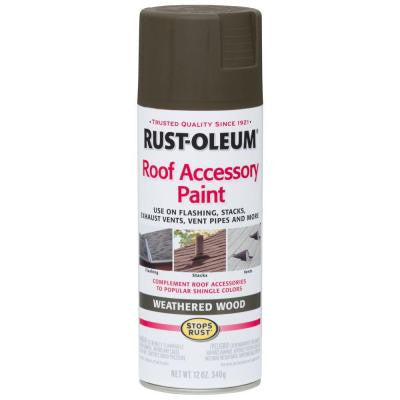 12 oz. Weathered Wood Roof Accessory Spray Paint (Case of 6)