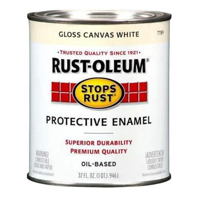 1-qt. Protective Enamel Gloss Canvas White Paint (Case of 2)