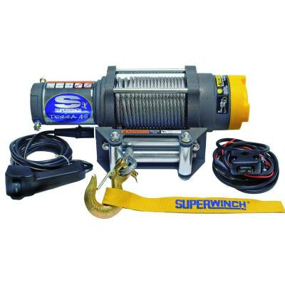 Terra Series 45 12-Volt ATV Winch with 4-Way Roller Fairlead and 10 ft. Remote