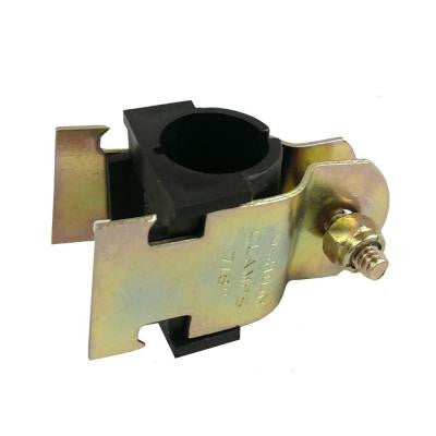 1/2 in. Yellow Zinc Coated Cushion Clamp with Insulator