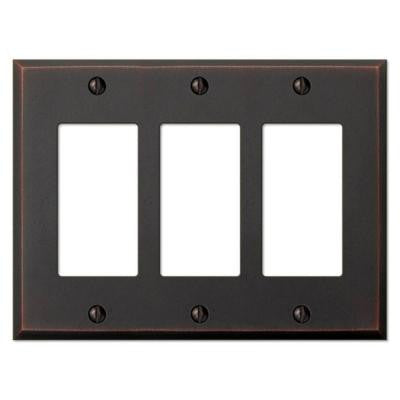 Manhattan 3 Decora Wall Plate - Aged Bronze