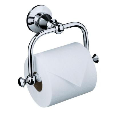 Antique Wall-Mount Single Post Toilet Paper Holder in Polished Chrome