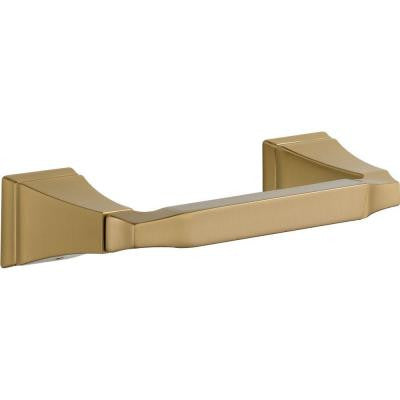 Dryden Double Post Toilet Paper Holder in Champagne Bronze
