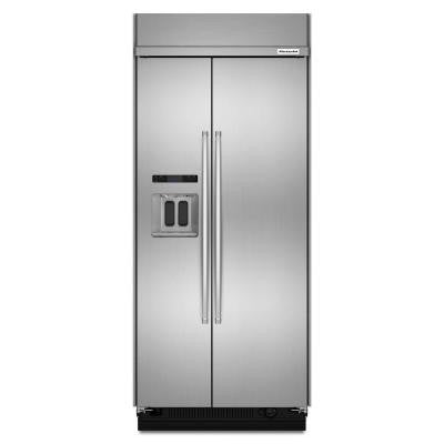 20.8 cu. ft. Side by Side Refrigerator in Stainless Steel