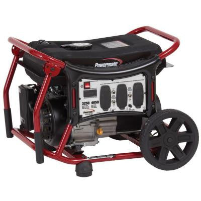 3,250-Watt Gasoline Powered Manual Start Portable Generator