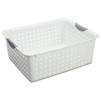 12.88 in. x 6 in. Plastic Large Ultra Storage Basket