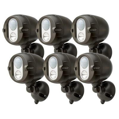 Networked Wireless Motion Sensing Outdoor LED Spot Light System with NetBright Technology, 200 Lumens (6-Pack)