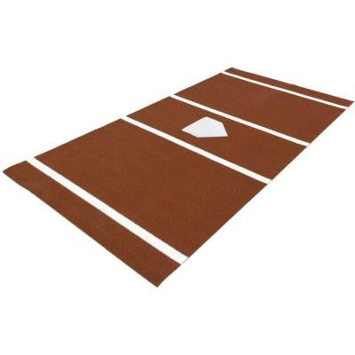6 ft. x 12 ft. Home Plate Mat in Clay for Baseball