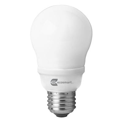 60W Equivalent Soft White (2700K) A19 CFL Light Bulb (4-Pack)
