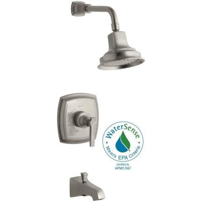 Margaux Rite-Temp Pressure-Balancing 1-Handle Tub and Shower Faucet Trim Kit in Brushed Nickel (Valve Not Included)