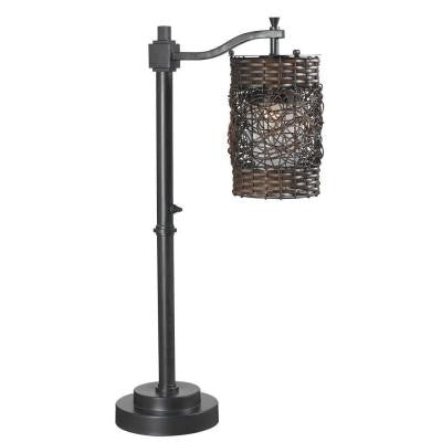 Brent 30 in. Oil-Rubbed Bronze Outdoor Table Lamp