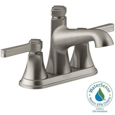 Georgeson 4 in. Centerset 2-Handle Bathroom Faucet in Vibrant Brushed Nickel