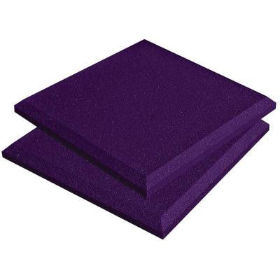 1 ft. W x 1 ft. L x 2 in. H SonoFlat Panels - Purple (14-Box)