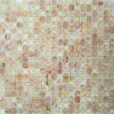 Breeze Silky Peach 12-3/4 in. x 12-3/4 in. x 6 mm Glass Mosaic Tile