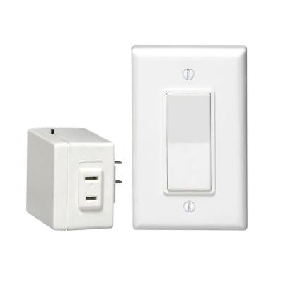 Decora 15 or 20 Amp Anywhere Plug-In Remote Single-Pole Switch - White