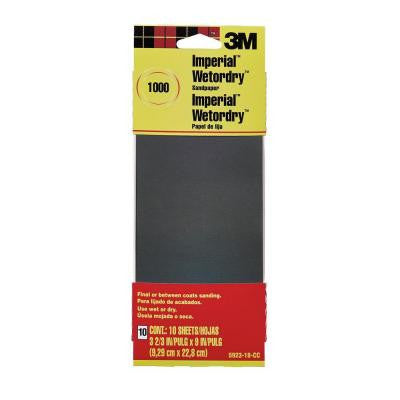 3.66 in. x 9 in. 1000 Grit Sandpaper (10 Sheets-Pack)