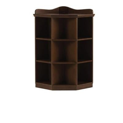Kids 3-Shelf Brown Wood Tone Corner Book Storage