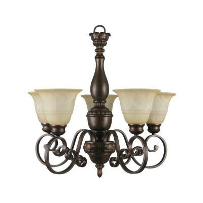 Carina Collection 5-Light Aged Bronze Chandelier