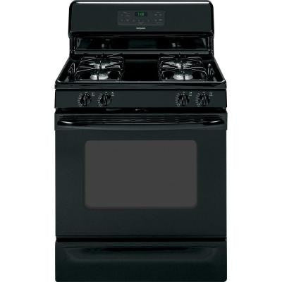 4.8 cu. ft. Gas Range with Self-Cleaning Oven in Black