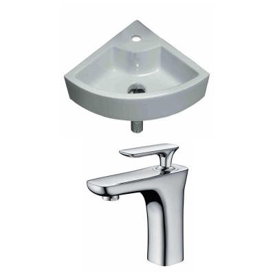 Unique Vessel Sink Set in White with Single Hole cUPC Faucet