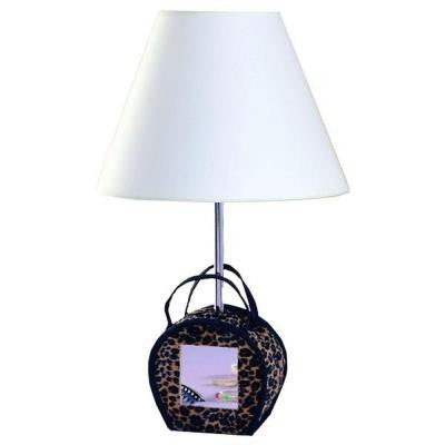 Cooper 21 in. Leopard Print Purse Incandescent Novelty Lamp