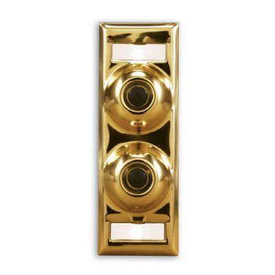 Polished Brass Multi-Family Doorbell Name Plate