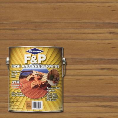1-gal. F&P Cedar Exterior Wood Stain Finish and Preservative (4-Pack)