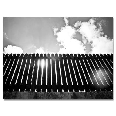 18 in. x 24 in. St. Bart Fence Canvas Art